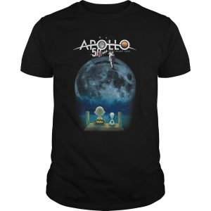 Charlie And Snoopy Watching Moon Landing Apollo 11 50th Anniversary Shirt