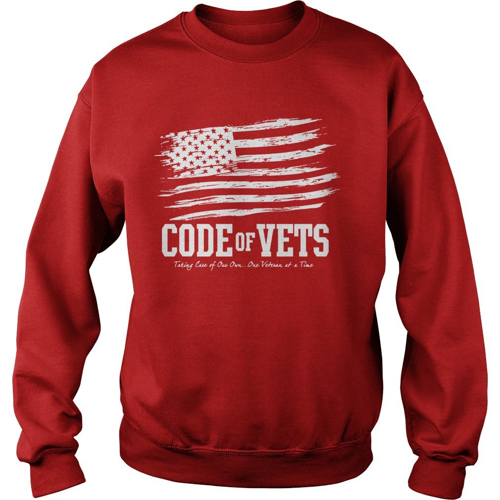 Code Of Vets Taking Care Of Our Own One Veteran At A Time Sweater