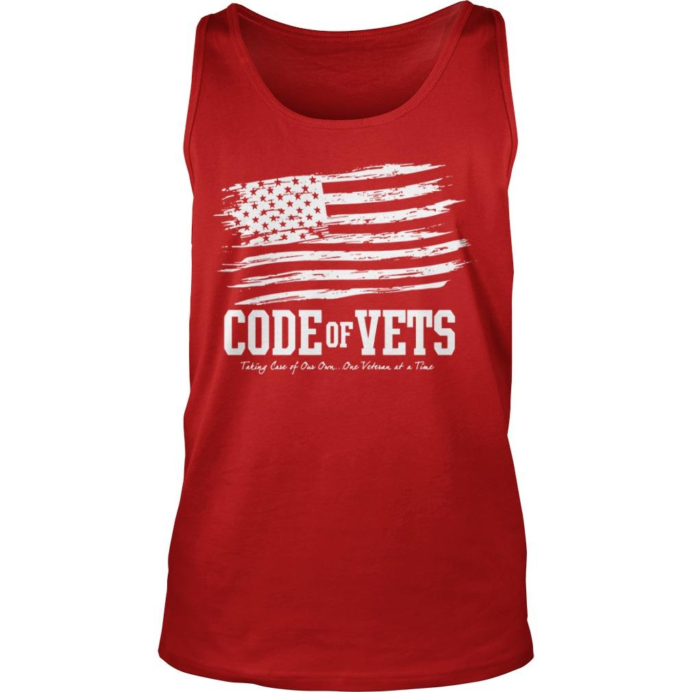 Code Of Vets Taking Care Of Our Own One Veteran At A Time Tank Top