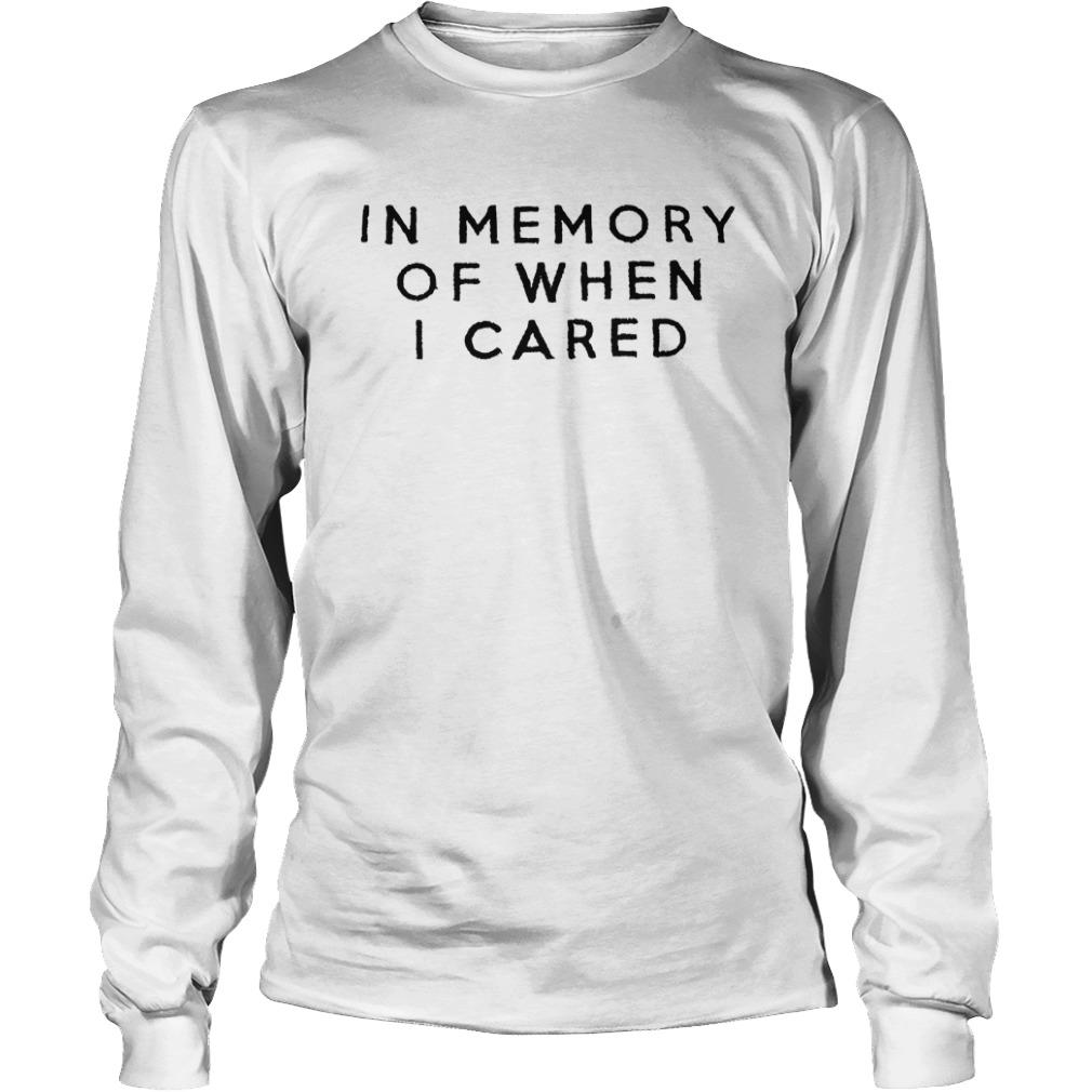 Damion In Memory Of When I Cared Longsleeve