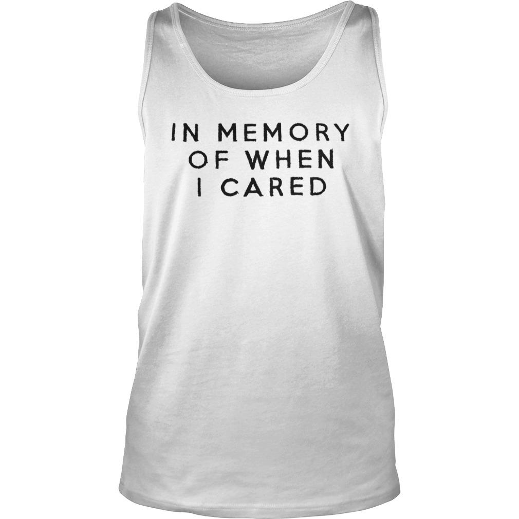 Damion In Memory Of When I Cared Tank Top