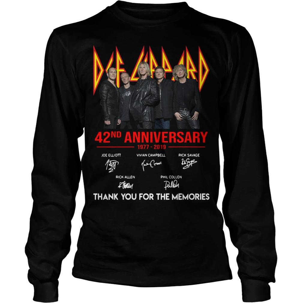 Def Leppard 42 Anniversarry 1977 2019 Thank You For The Memories Longsleeve