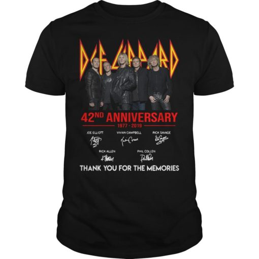Def Leppard 42 Anniversarry 1977 2019 Thank You For The Memories