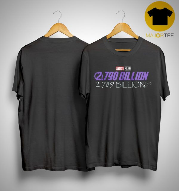 Disney Jacks Film 2790 Billion 2789 Billion Shirt