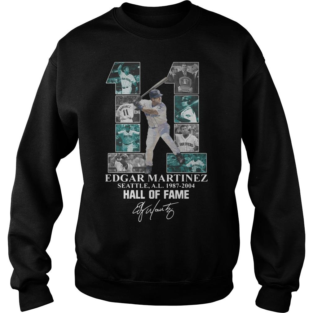 Edgar Martinez Seattle AL 1987 2004 Hall Of Fame Sweater