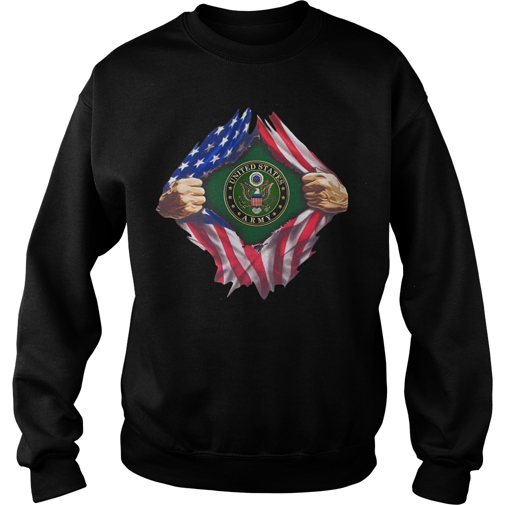 Flag Torn Army Seal Sweater