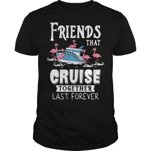 Flamingo Friends That Cruise Together Last Forever