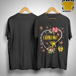 Flower I Love Being A Grandma Shirt.jpg