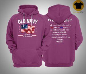 Fourth of July Old Navy Purple Hoodie
