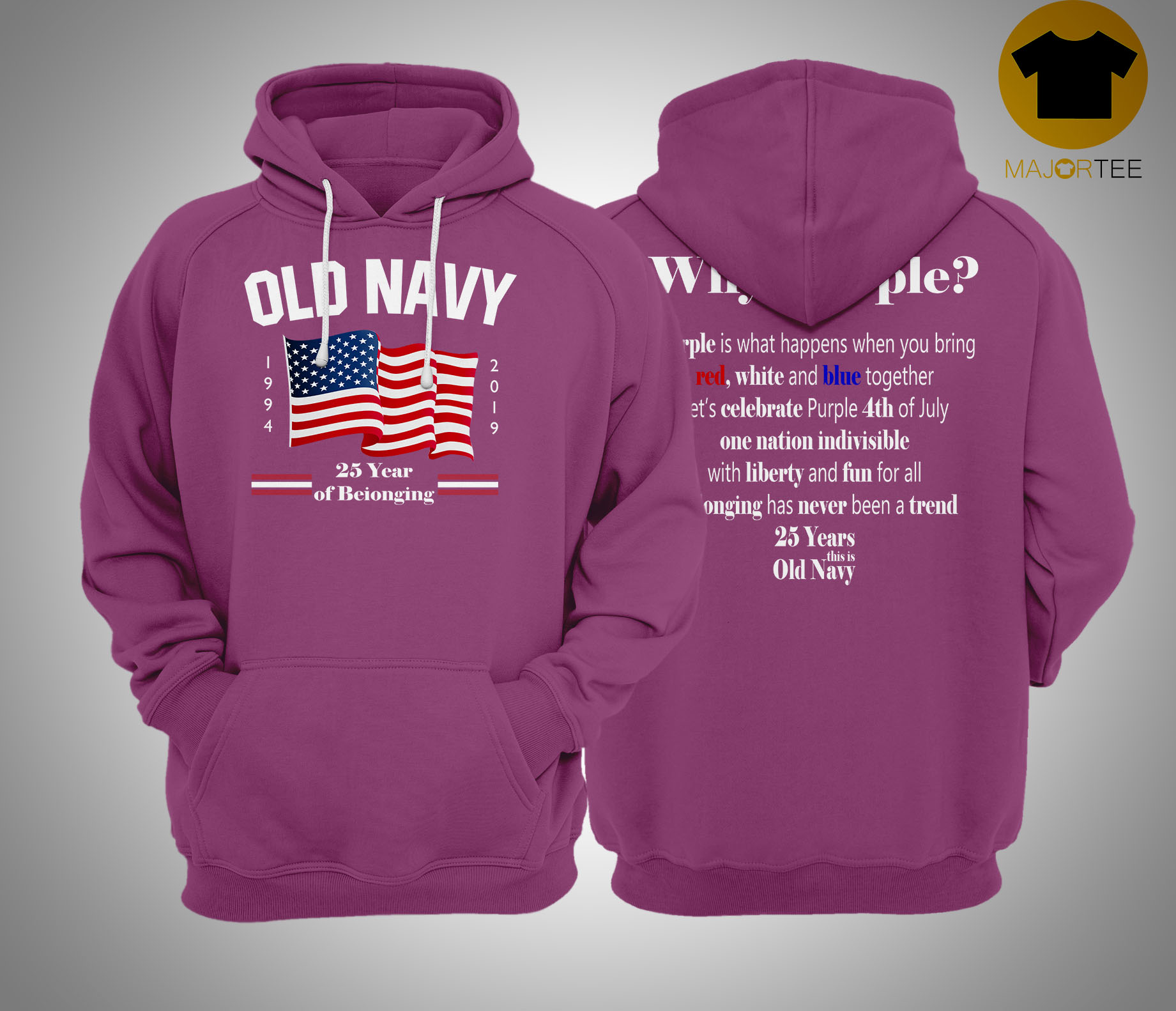 Fourth of July Old Navy Purple Hoodie