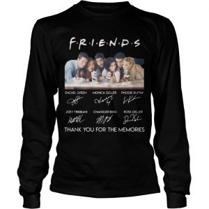 Friends Tv Show Thank You For The Memories Longsleeve Tee