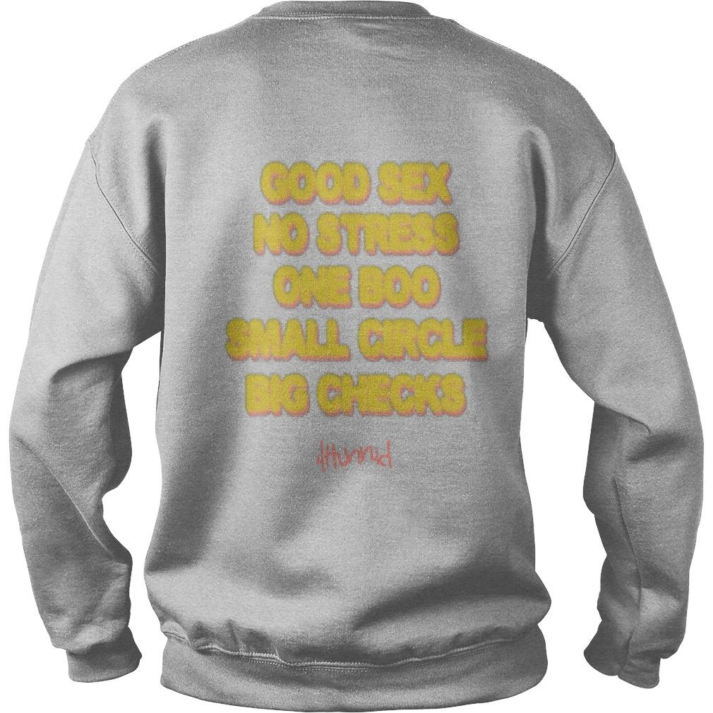 Good Sex No Stress One Boo No Ex Small Circle Big Checks Sweater
