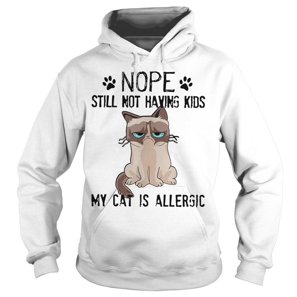Grumpy Cat Nope Still Not Having Kids My Cat Is Allergic Hoodie
