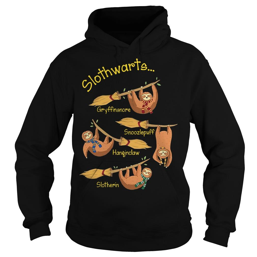 Harry Potter Slothwarts Gryffinsnore Snoozlepuff Hanginclaw Slotherin Hoodie
