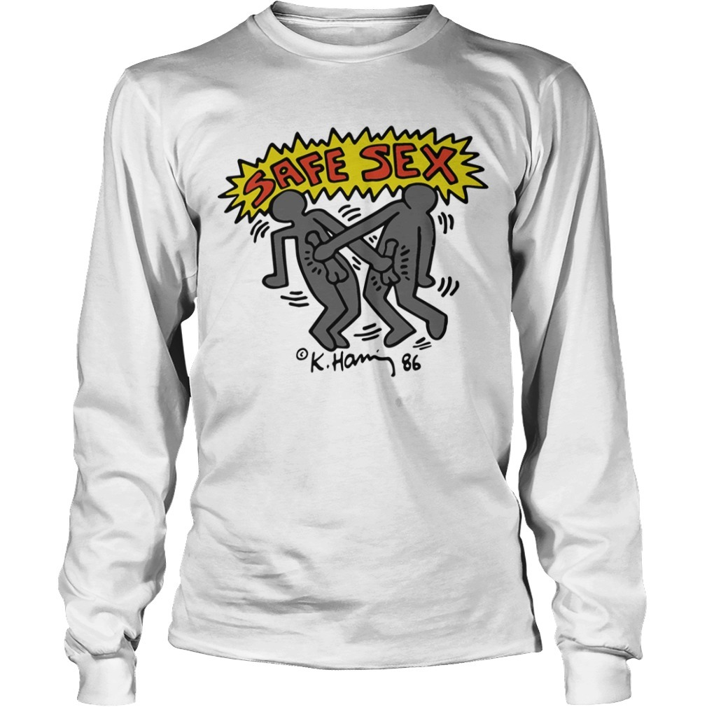 Harry Styles Keith Haring Safe Sex Longsleeve Tee