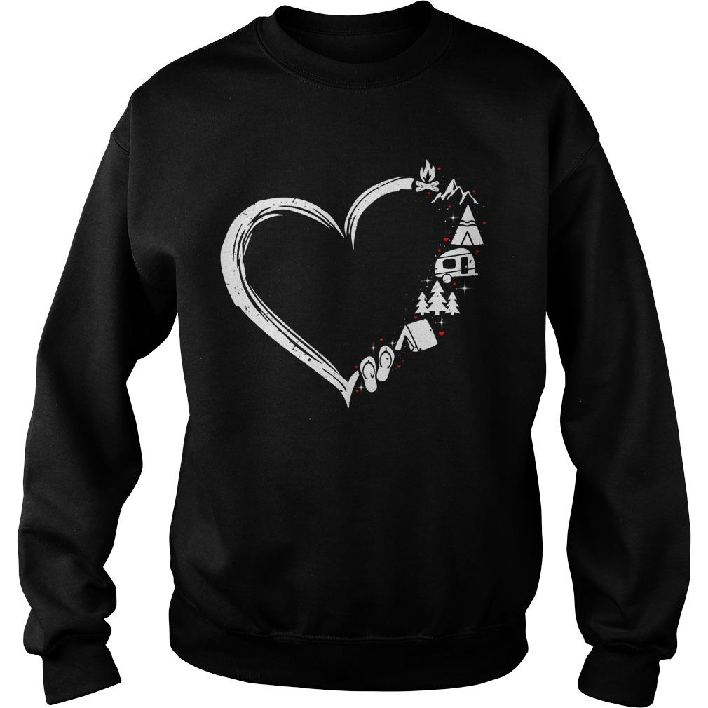 Heart I Love Camping Sweater