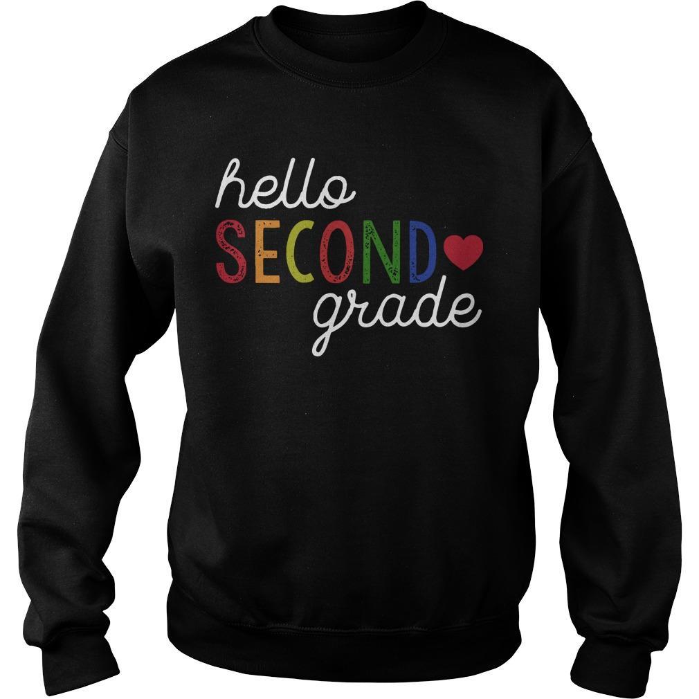 Hello Second Grade Sweater
