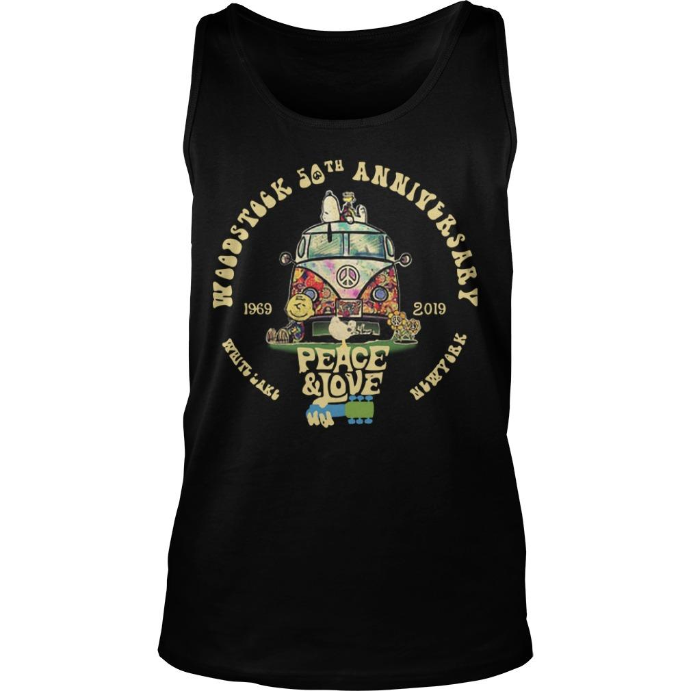 Hippie Car Woodstock 50th Anniversary 1969 2019 Peace And Love Tank Top