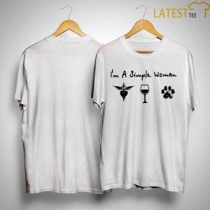 I'm A Simple Woman Like Jon Bon Jovi Wine And Dog Shirt