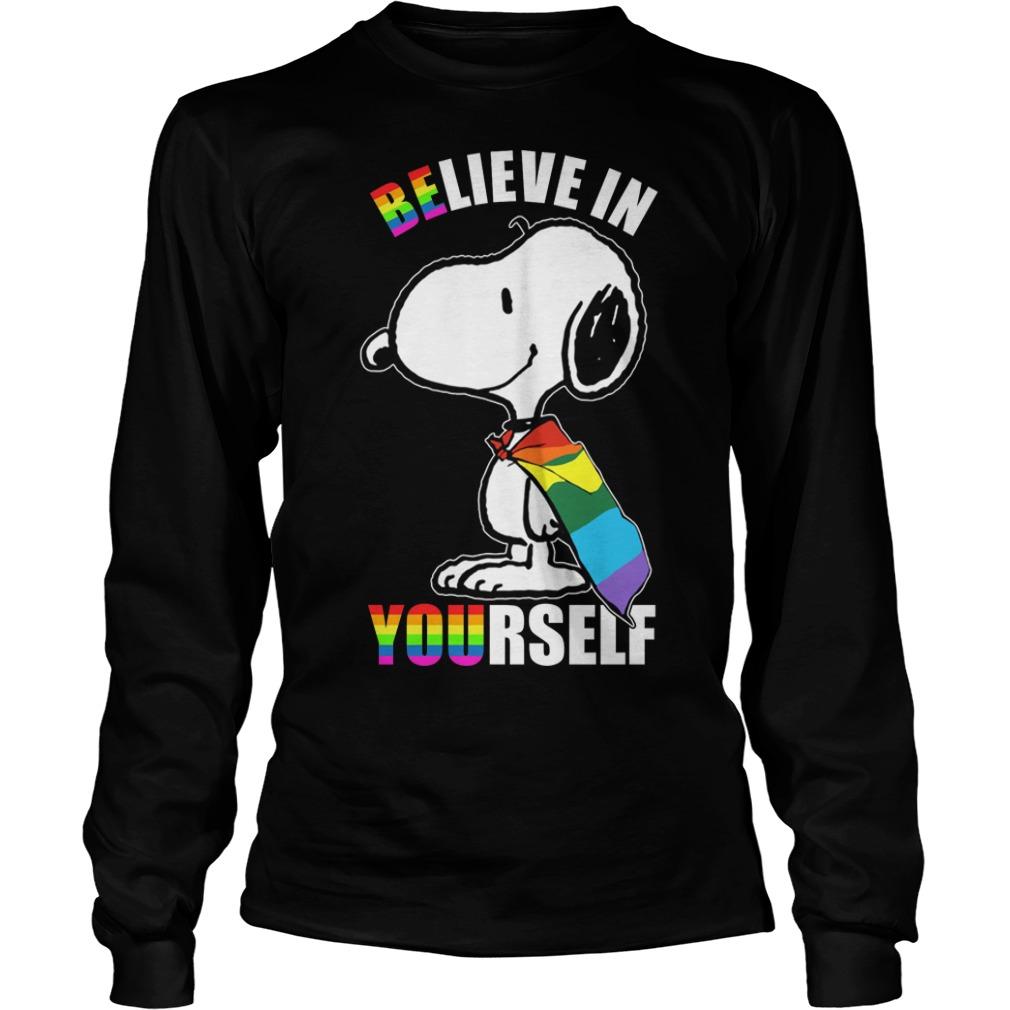 Lgbt Snoopy Believe In Yourself Longsleeve Tee