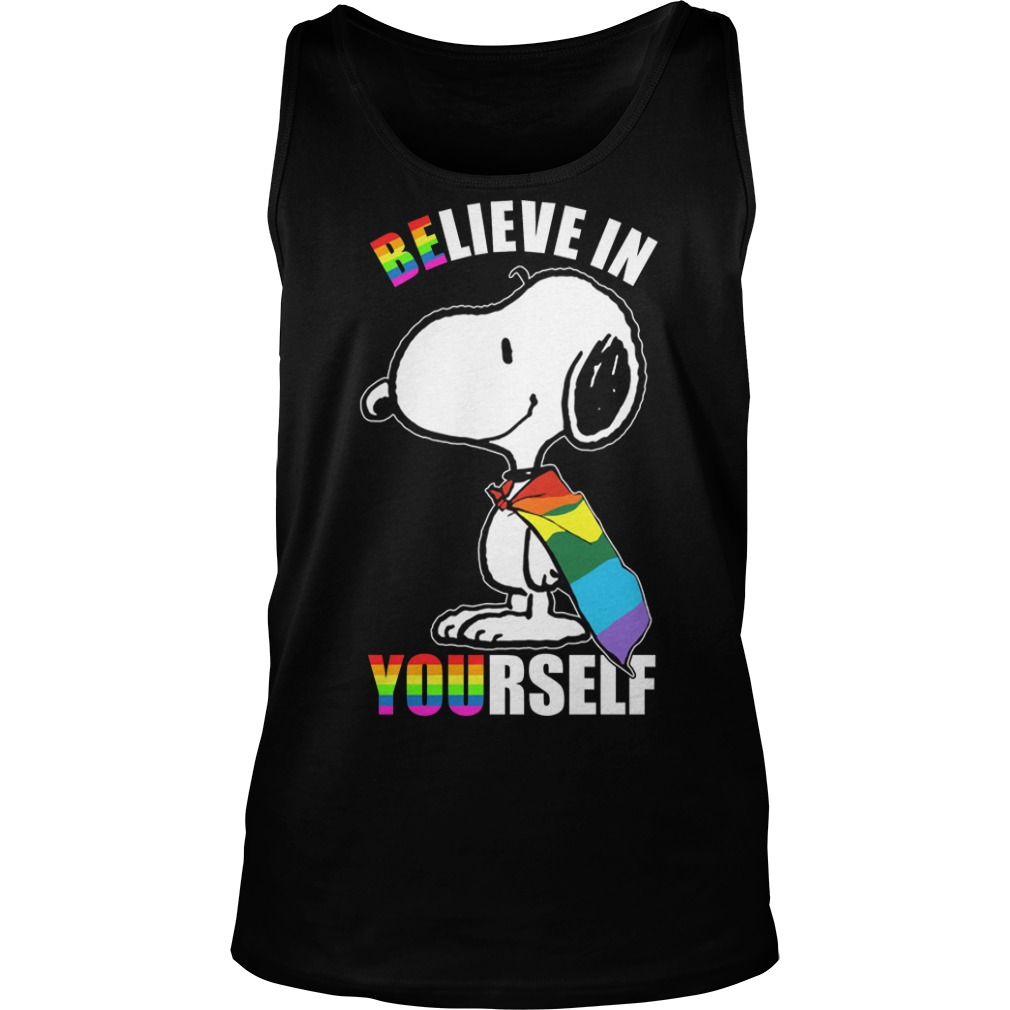 Lgbt Snoopy Believe In Yourself Tank TOp