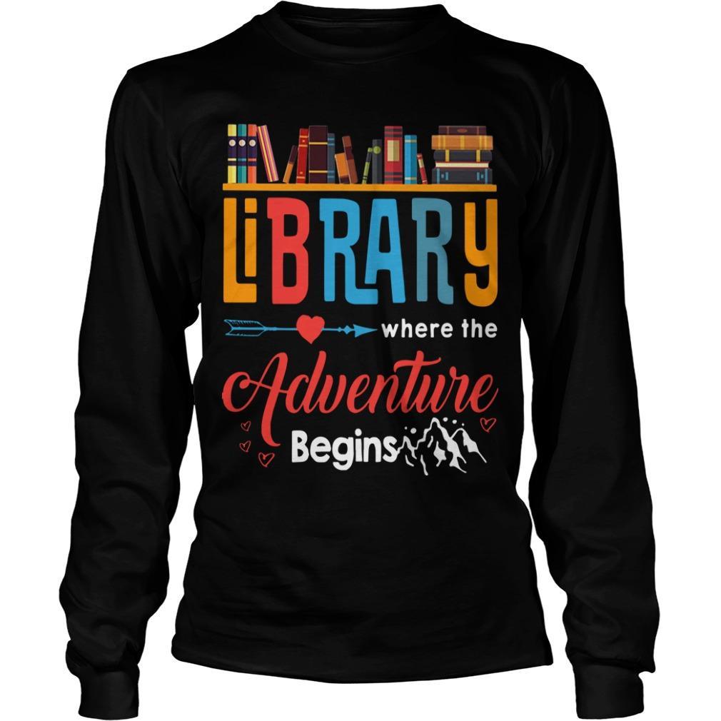 Library Where The Adventure Begins Longsleeve