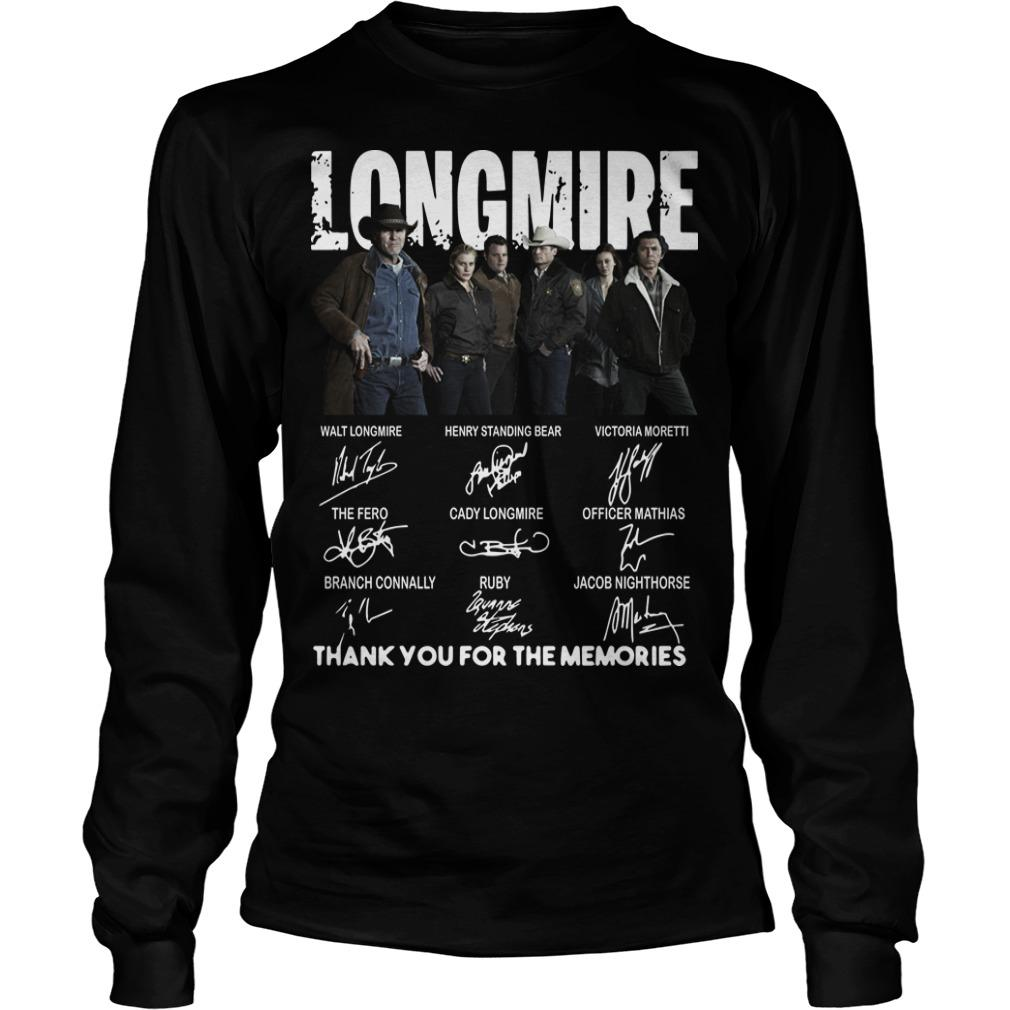 Longmire Character Signatures Thank You For The Memories Longsleeve