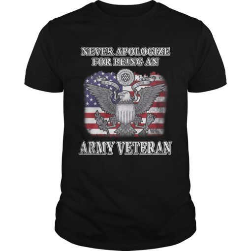 Never Apologize For Being An Army Veteran Shirt