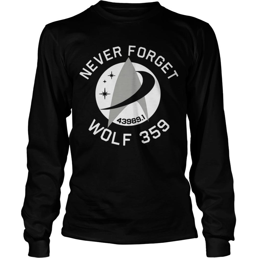 Never Forget 43989 Wolf 359 Longsleeve