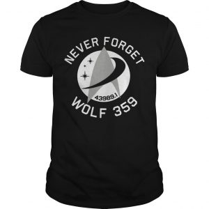 Never Forget 43989 Wolf 359 Shirt