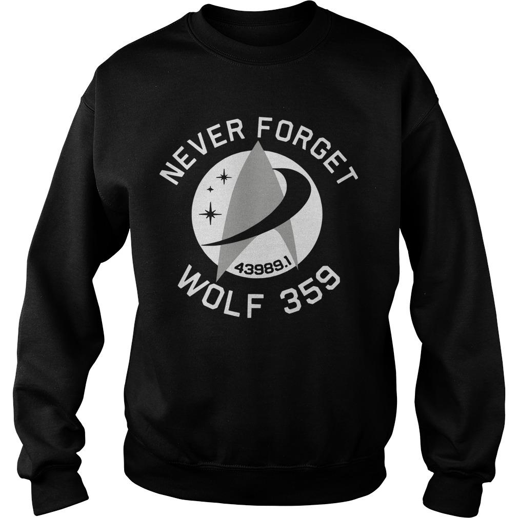 Never Forget 43989 Wolf 359 Sweater