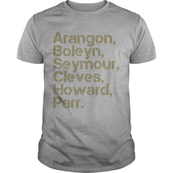 Nicole Cliffe Aragon Boleyn Seymour Cleves Howard Parr Shirt