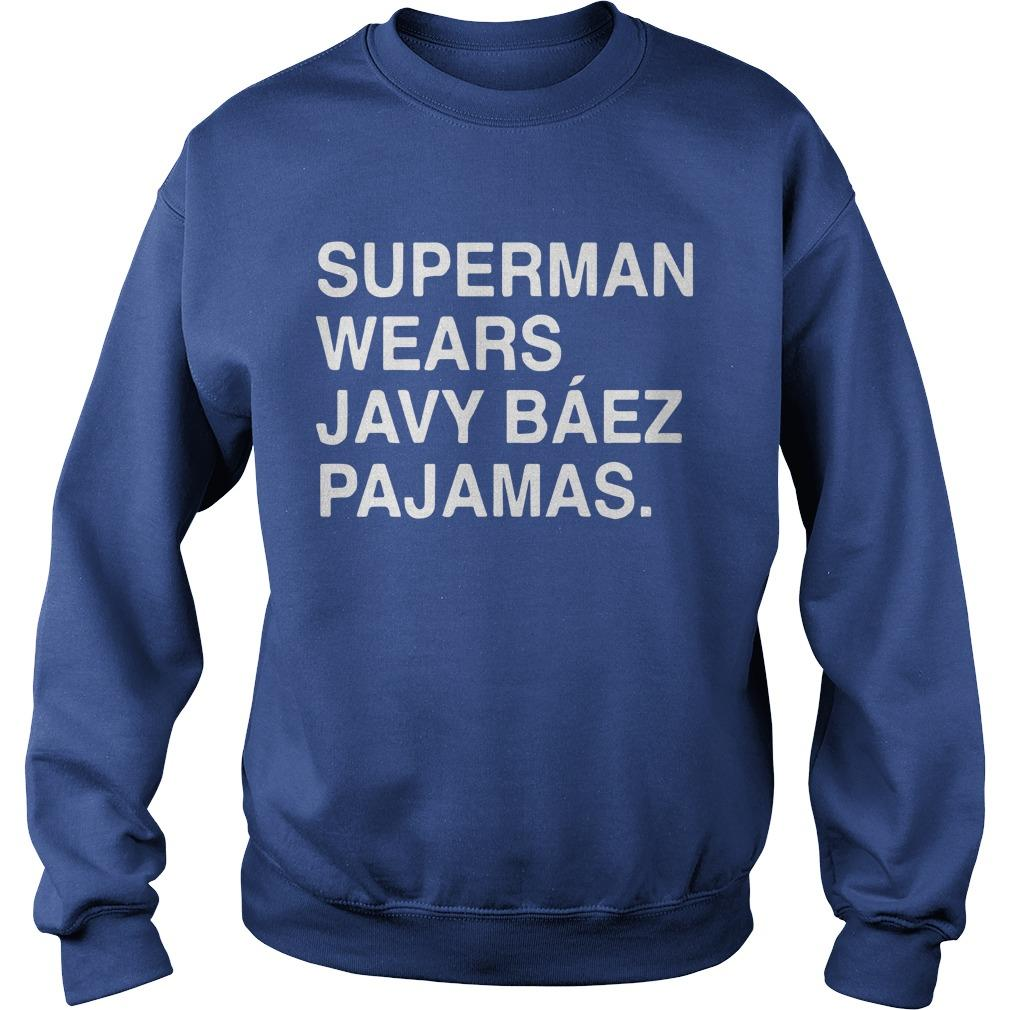 Obviouss Superman Wears Javy Báez Pajamas Sweater
