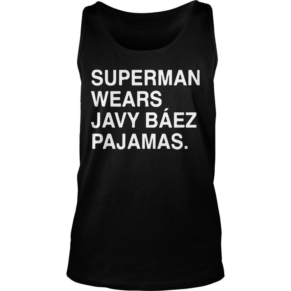 Obviouss Superman Wears Javy Báez Pajamas Tank Top