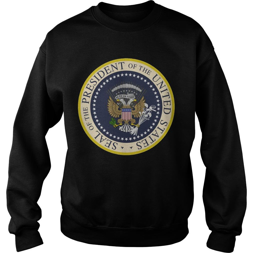 Photoshopped Trump's Presidential Seal Sweater