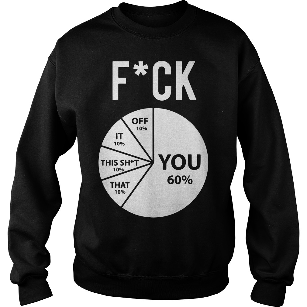 Pie Chart Fuck You 60% Off 10% That 10% That Shit 10% It 10% Off 10% Sweater