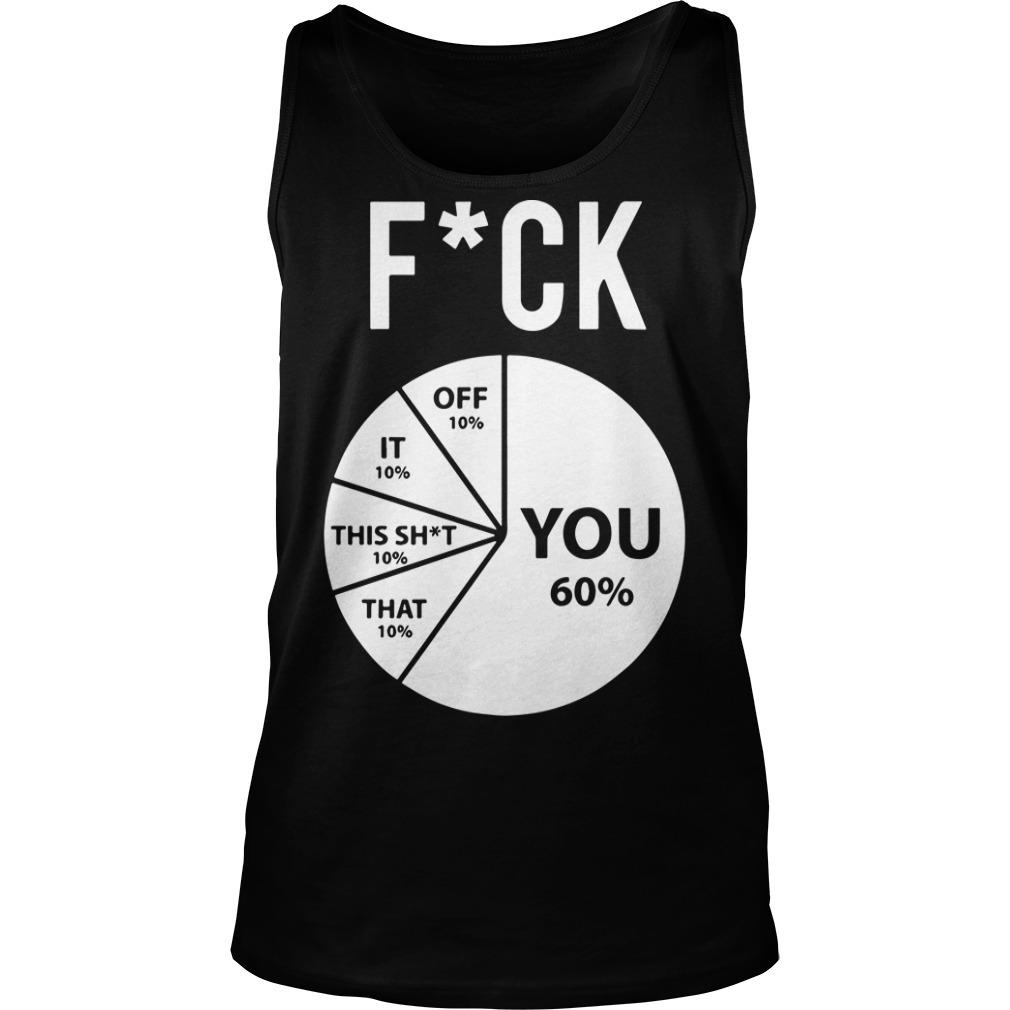Pie Chart Fuck You 60% Off 10% That 10% That Shit 10% It 10% Off 10% Tank Top