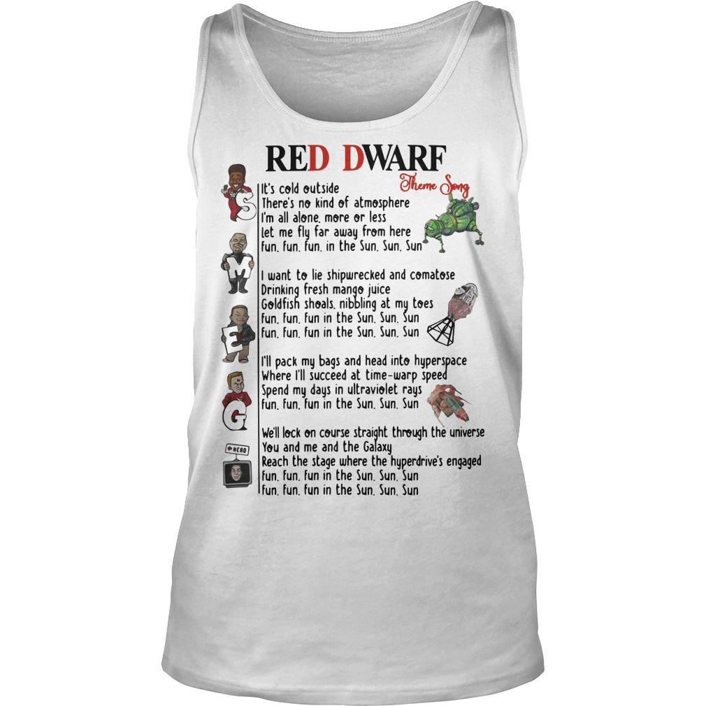 Red Dwarf Theme Song Tank Top