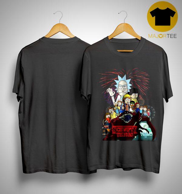 Rick And Morty Stranger Things 3 Shirt