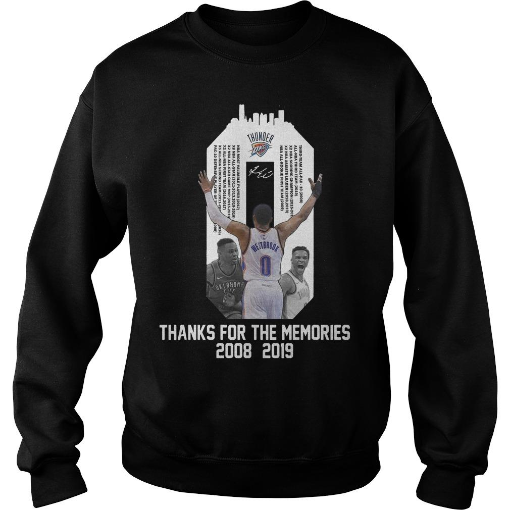 Russell Westbrook Thanks For The Memories 2008 2019 Sweater