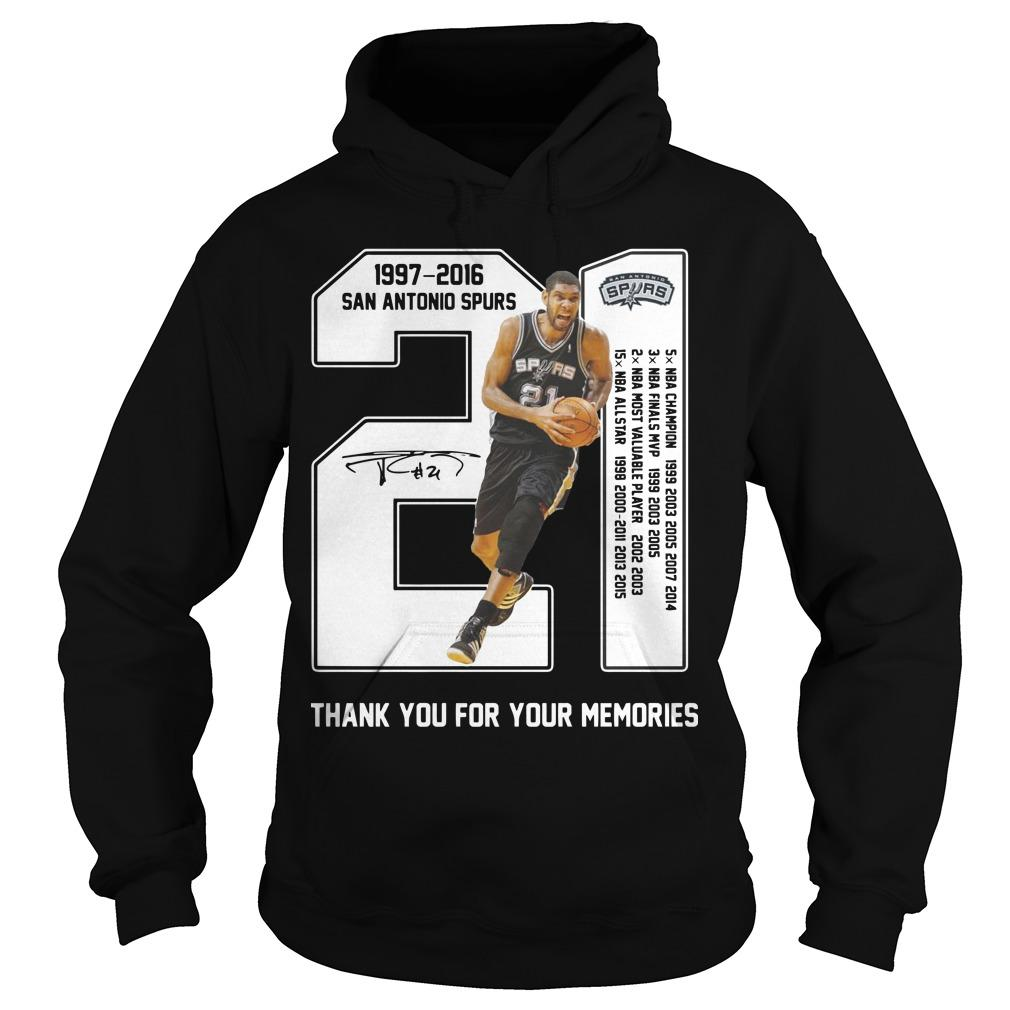 San Antonio Spurs 1997 2017 Thank You For The Memories Hoodie