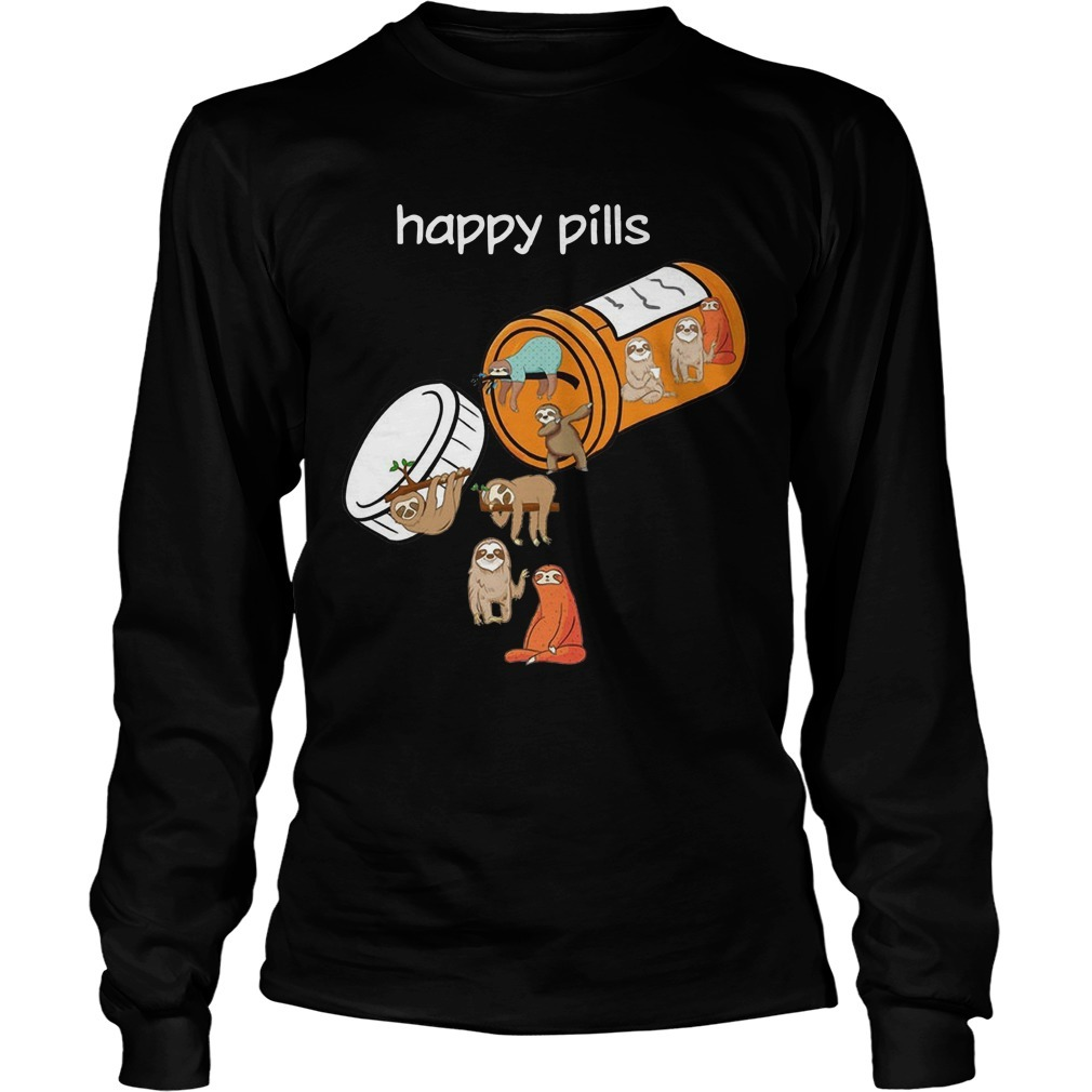Sloths Happy Pills Longsleeve Tee