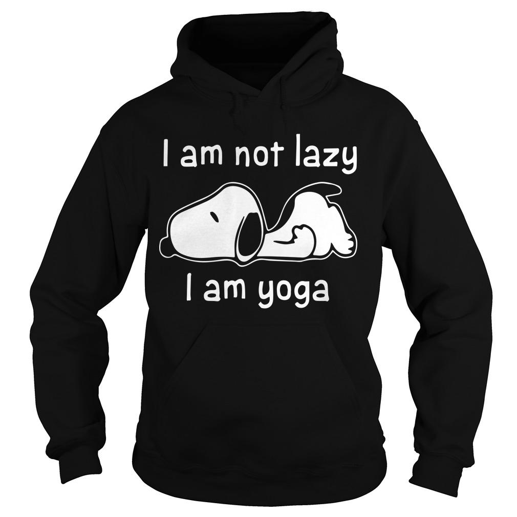 Snoopy I Am Not Lazy I Am Yoga Hoodie