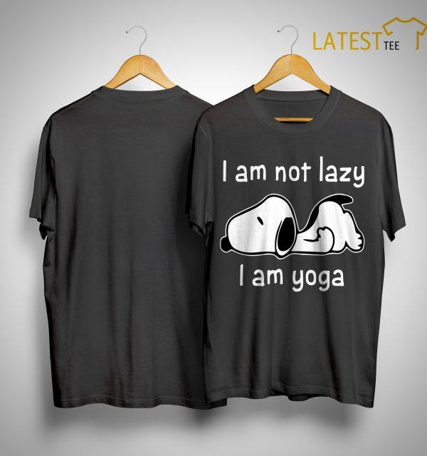 Snoopy I Am Not Lazy I Am Yoga Shirt