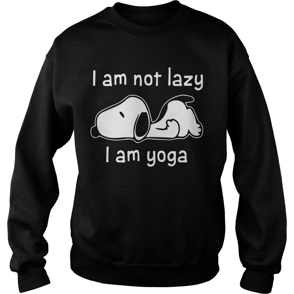 Snoopy I Am Not Lazy I Am Yoga Sweater