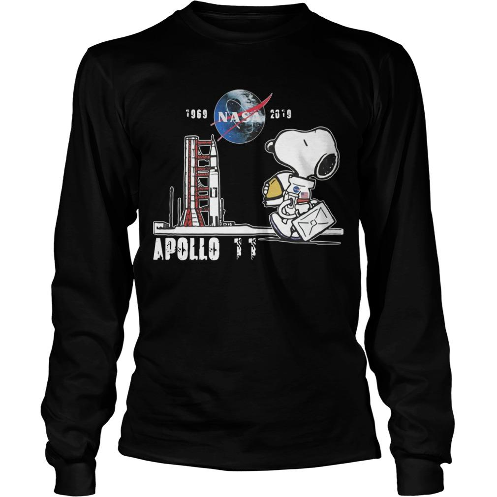 Snoopy Nasa 1969 2918 Apollo 11 Longsleeve