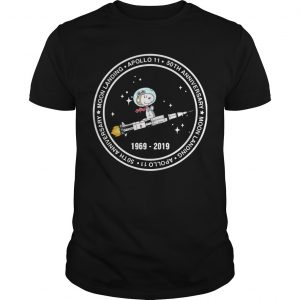 Snoopy Riding Rocket Moon Landing Apollo 11 1969 2019 Shirt