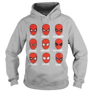 Spiderman Face Heroic Annoyed Determined Hoodie