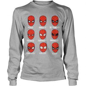 Spiderman Face Heroic Annoyed Determined Longsleeve Tee
