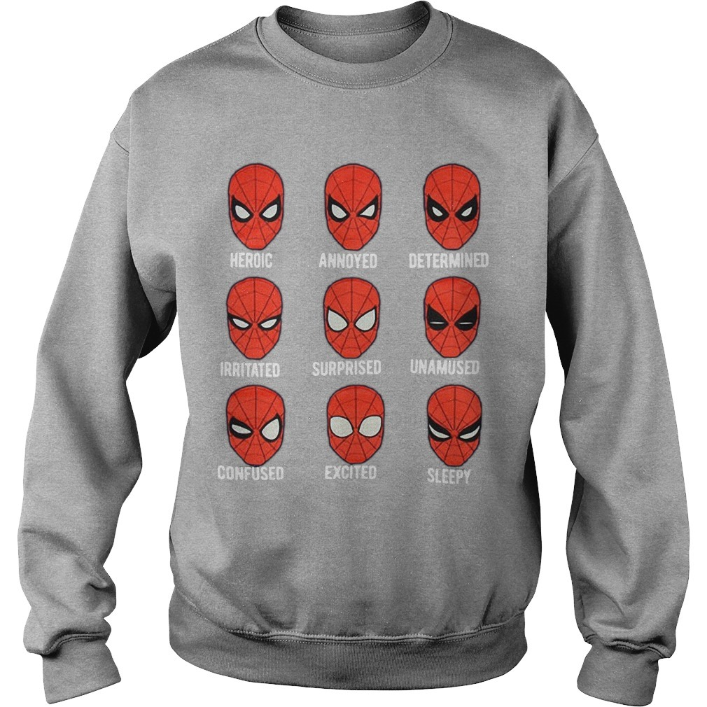 Spiderman Face Heroic Annoyed Determined Sweater